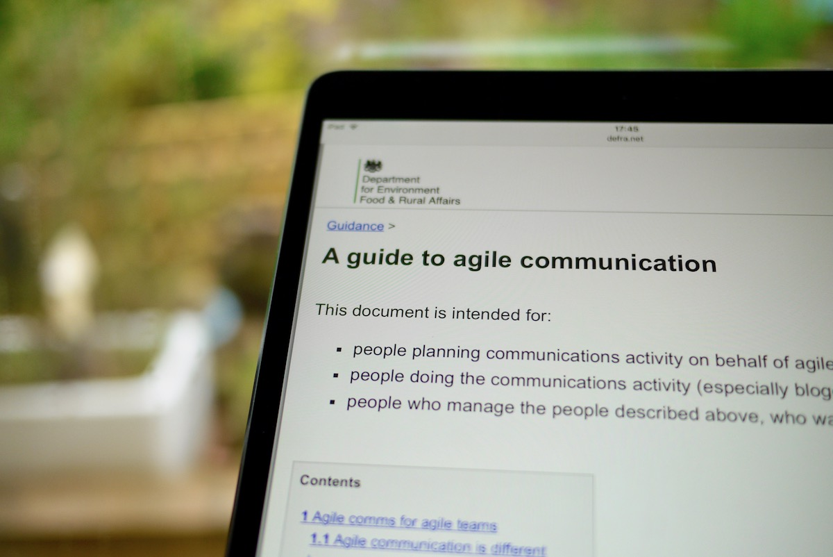 A guide to agile comms, written for Defra